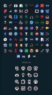 Icon Flat-Remix kali linux 2020.1