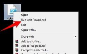 dùng powershell nâng cấp Windows 7 lên Windows 10