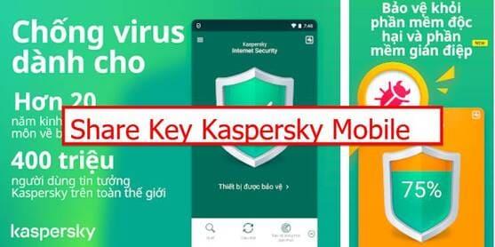 share key Kaspersky Mobile Antivirus