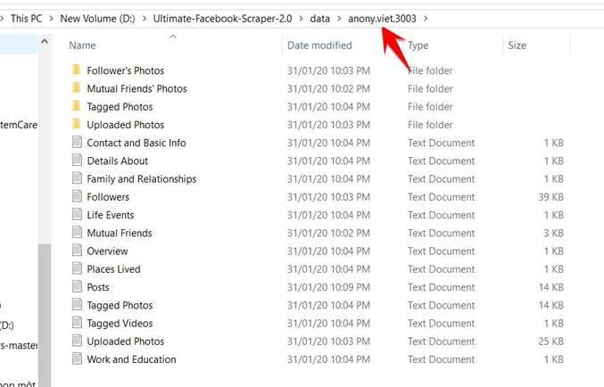 Hướng dẫn thu thập thông tin Facebook bằng Ultimate Facebook Scraper 5