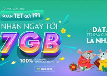 nhận 7Gb data 4G Viettel