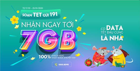 Cách nhận 7Gb DATA 4G Viettel miễn phí dịp tết 3