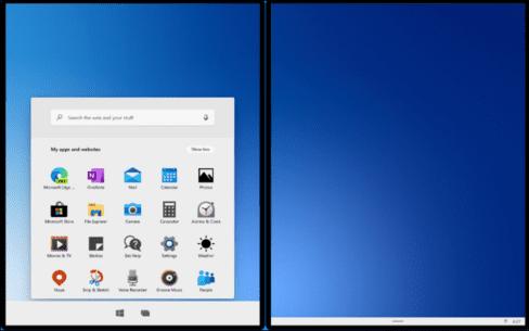 Windows 10X đã không còn Live Tiles