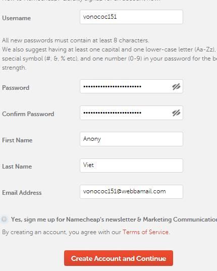 Cách đăng ký Domain .website và Hosting miễn phí của Namecheap 14