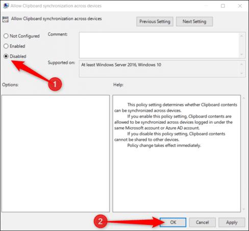 Cách tắt đồng bộ hóa Clipboard trên Windows 10 tránh mất dữ liệu 14