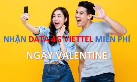 Hướng dẫn nhận DATA 4G Viettel miễn phí ngày Valentine