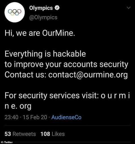 Tài khoản Twitter của Olympics, FC Barcelona bị hack 2