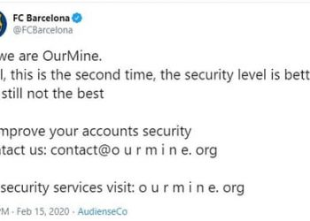 twitter FC barcelona bị hack