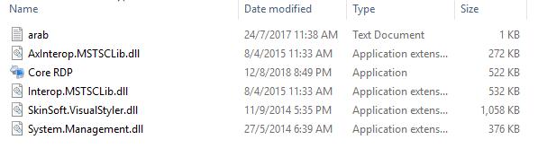 chạy file Core RDP.exe