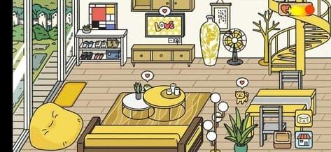 Phòng khách đẹp Adorable Home màu vàng