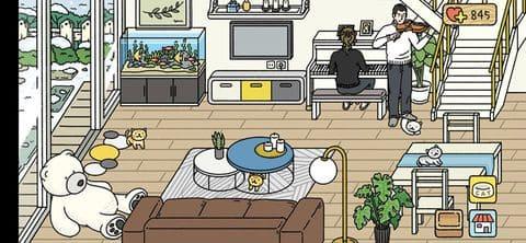 Phòng khách hạnh phúc