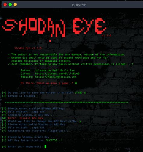 tìm dữ liệu bằng shodan eye