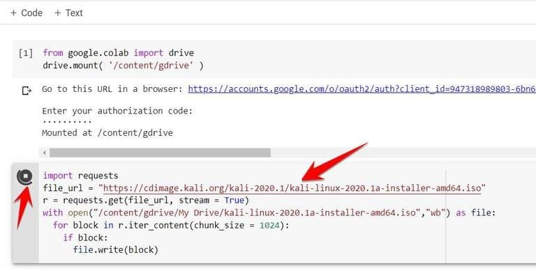 dùng Colab để Download File về Google Drive