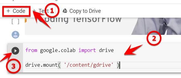 Code kết nối Colab với Google Drive