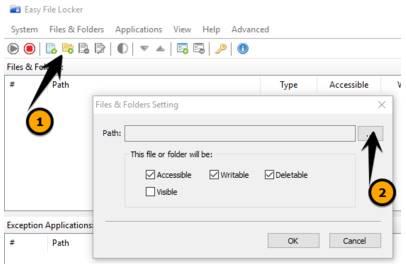 Cách sử dụng Easy File Locker khóa file, thư mục