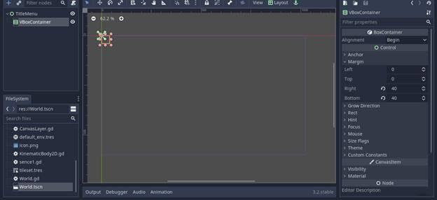 [Lập Trình Game] Bài 9: Tạo MENU cho Game khi lập trình bằng Godot 66