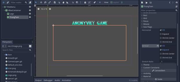 [Lập Trình Game] Bài 9: Tạo MENU cho Game khi lập trình bằng Godot 74