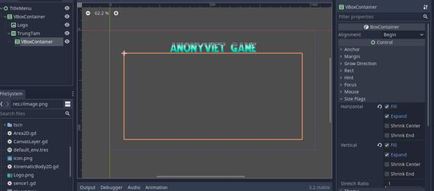 [Lập Trình Game] Bài 9: Tạo MENU cho Game khi lập trình bằng Godot 75