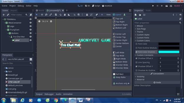 [Lập Trình Game] Bài 9: Tạo MENU cho Game khi lập trình bằng Godot 89
