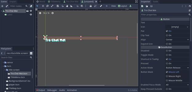 [Lập Trình Game] Bài 9: Tạo MENU cho Game khi lập trình bằng Godot 93