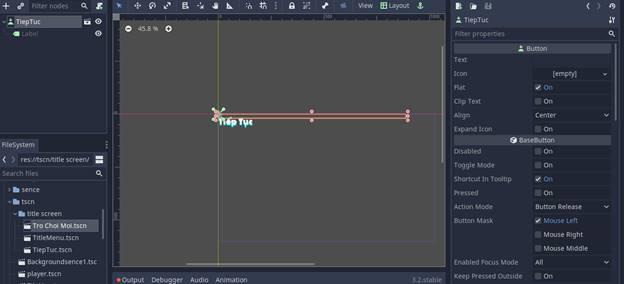 [Lập Trình Game] Bài 9: Tạo MENU cho Game khi lập trình bằng Godot 94