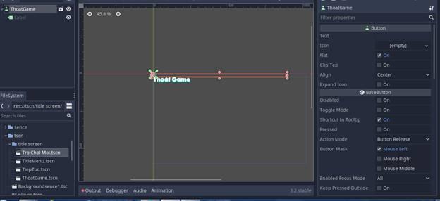 [Lập Trình Game] Bài 9: Tạo MENU cho Game khi lập trình bằng Godot 95