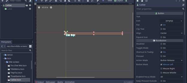 [Lập Trình Game] Bài 9: Tạo MENU cho Game khi lập trình bằng Godot 96