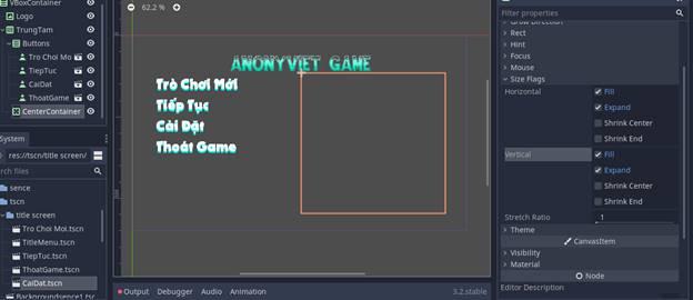[Lập Trình Game] Bài 9: Tạo MENU cho Game khi lập trình bằng Godot 104