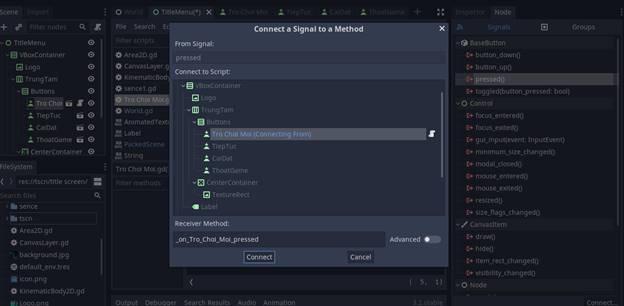 [Lập Trình Game] Bài 9: Tạo MENU cho Game khi lập trình bằng Godot 114