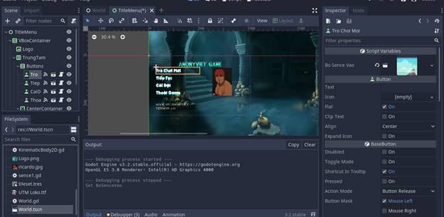 [Lập Trình Game] Bài 9: Tạo MENU cho Game khi lập trình bằng Godot 120