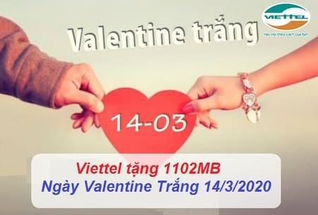 Cách nhận miễn phí Data 4G 1102Mb Viettel ngày valentine trắng
