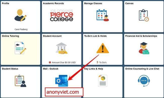 đăng nhập mail edu