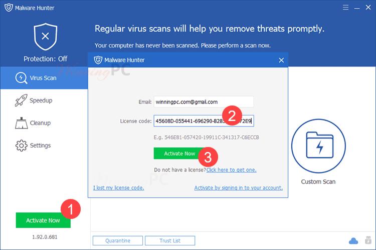 Share Key Malware Hunter Pro - Quét virus, tối ưu hóa Windows 7