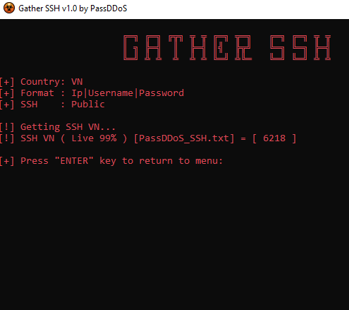Download Gather SSH - Tool Get SSH List Để Fake IP Live 99% 7