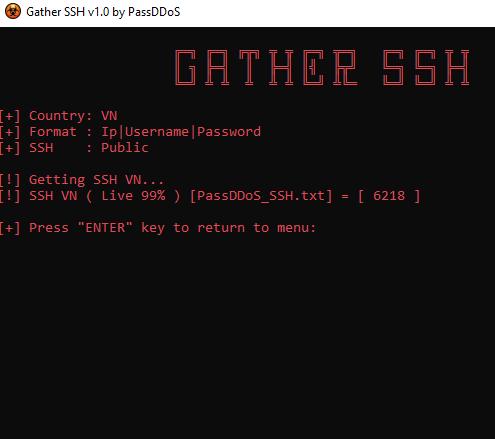 Download Gather SSH - Tool Get SSH List Để Fake IP Live 99% 7
