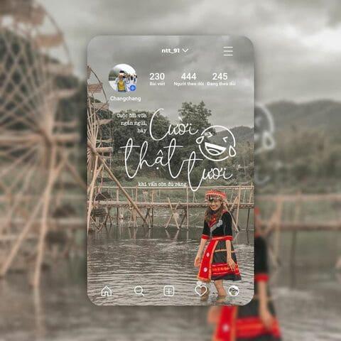 tạo card instagram có thông tin tài khoản và ảnh của bạn