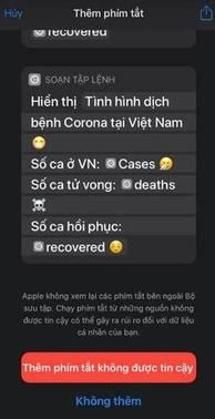 Các Tiện ích cập nhật tình hình Corona tại Việt Nam nhanh nhất 7
