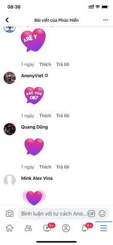 làm trái tim đập màu tím facebook