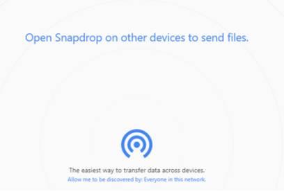 truyền file bằng snapdrop.net
