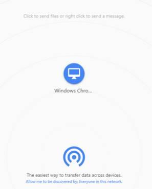 website chia sẻ file snapdrop.net
