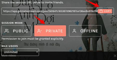 link invite mới được vào phòng