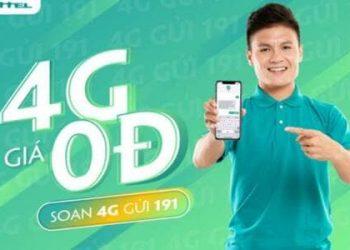 nhận DATA 4G miễn phí Viettel 2020