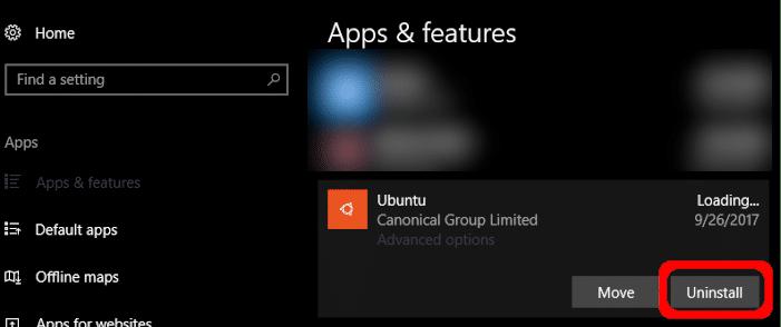 Gỡ cài đặt distro Linux trên Windows 10