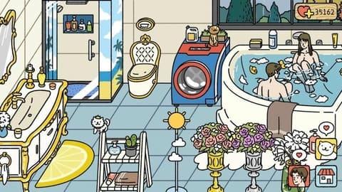 cách tắm chung trong bathroom game adorable home