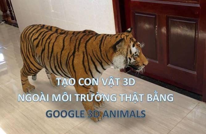 hướng dẫn dùng GOOGLE 3D ANIMALS OBJECT AR
