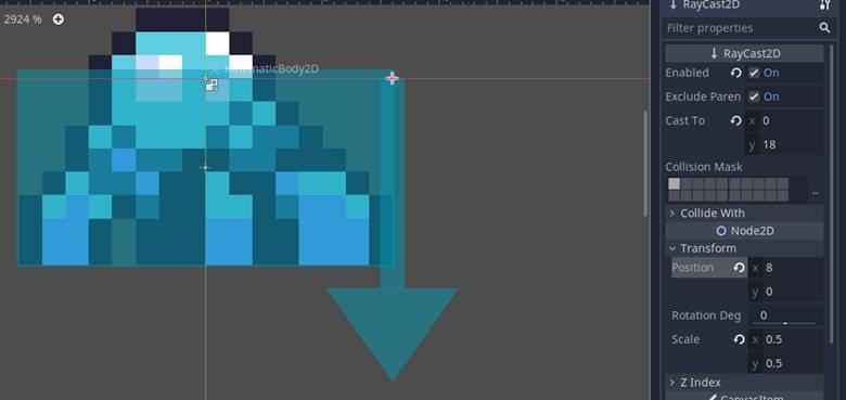 [Lập trình game] Bài 11: Kẻ Thù Raycast2D trong Godot - Phần 2 8