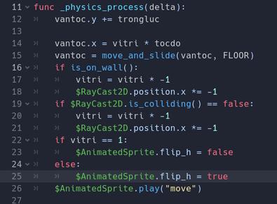 Full code godot Raycast2D