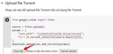 upload file torrent
