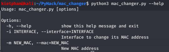 [PyHack] Bài 1: MAC là gì? Cách thay đổi MAC bằng python 12