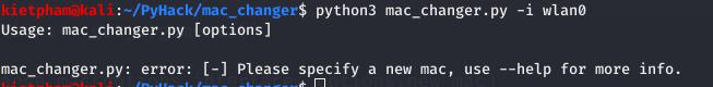 [PyHack] Bài 1: MAC là gì? Cách thay đổi MAC bằng python 20